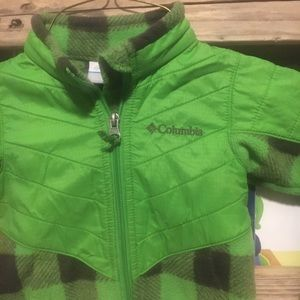 Green Plaid Columbia Fleece sz 2T